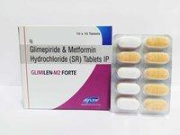 Glimepiride 1/2/3/4 + Metformin 1000mg Tablets