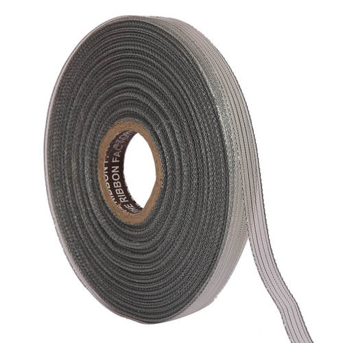 Lurex – Silver Stripe Edge Ribbons 12mm/ 20mtr Length