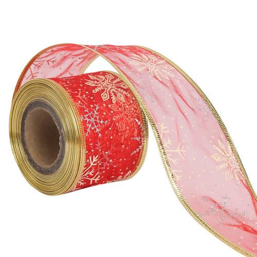 Lurex – Christmas Stars Christmas Ribbons 50mm/2'' Inch 10mtr Length