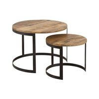 Round Coffee Table Set of 2