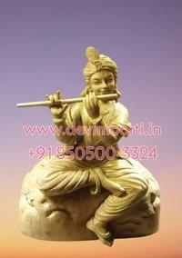 Flute marble Krishna statue
