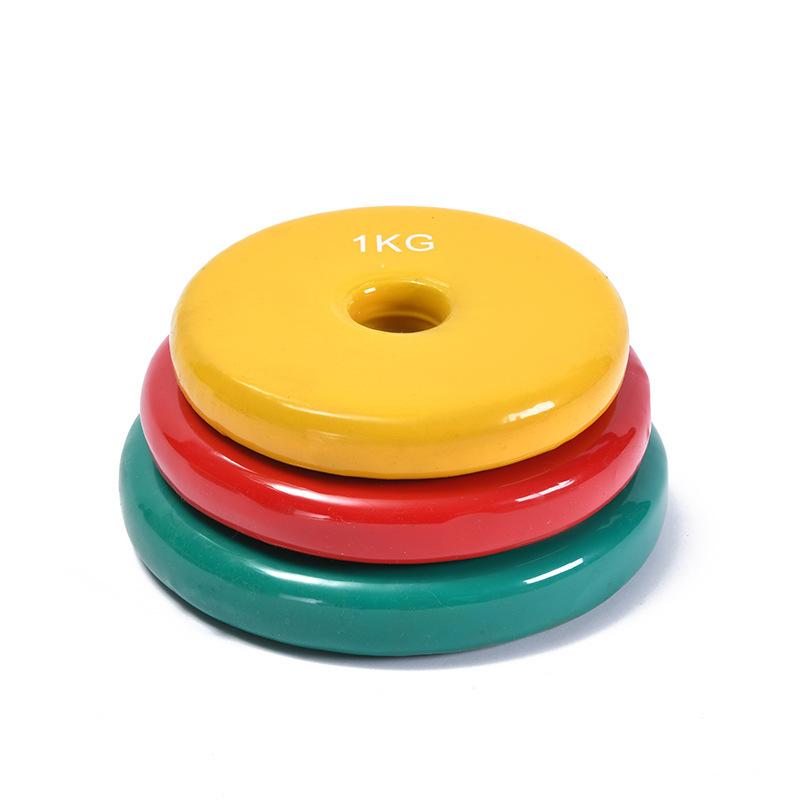 Body Exercise Colorful Neoprene Cast Iron Plastic Dip Dumbbell Weight Set