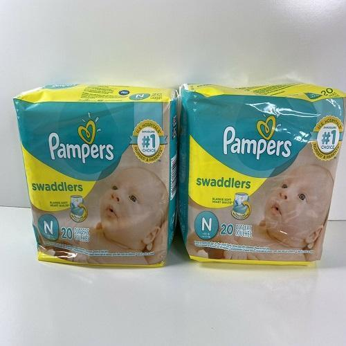 Swaddlers Baby Diapers Size NB Count Pack of 2 Total of 40 Pampersing Comfort & Protect