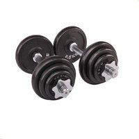 50kg Strength training(weight lifting) adjustable black cast iron dumbbells for fitness exercises Black Painting Dumbbell Barbell set