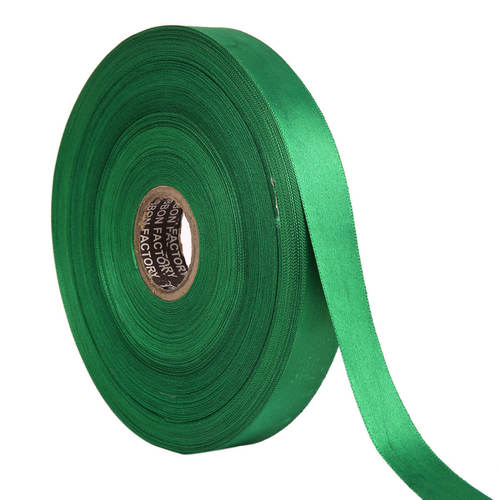 Double Satin NR – Peacock Green Ribbons 25mm/1''inch 20mtr Length