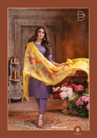 Maharani Chanderi Silk Thread Work Sequence Work Dress Materials