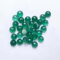 9mm Green Onyx Rose Cut Round Loose Gemstones