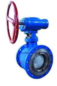 Eccentric semi ball valve