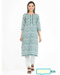 Exclusive Designer Cotton Kurtis With Pant