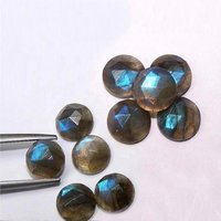 8mm Labradorite Rose Cut Round Loose Gemstones