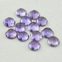 6mm Brazil Amethyst Rose Cut Round Loose Gemstones
