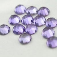 9mm Brazil Amethyst Rose Cut Round Loose Gemstones
