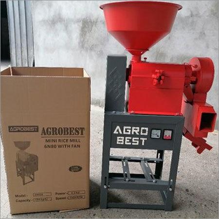 6N80 Mini Rice Mill With Fan