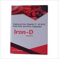 Carbonyl Iron Vitamin  C Vit B12 Folic Acid and Zinc Capsules