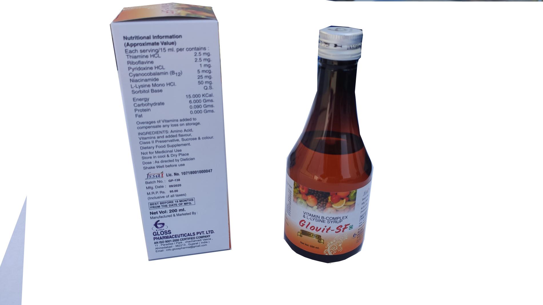 Glovit SF-B Complex & Lysine Syrup