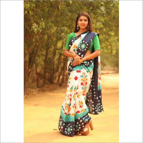 Ladies Bandhani Batik Saree
