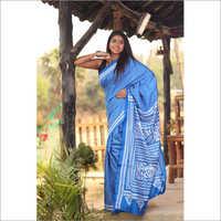 Ladies Pure Silk Gujrati Stitch Saree
