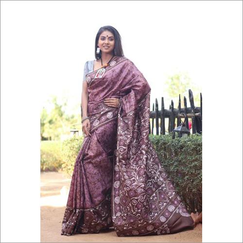 Ladies Pure Silk Hand Batik Saree