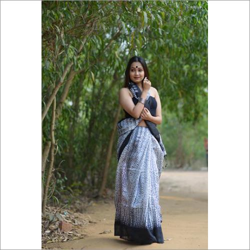 Ladies Shibori Silk Saree