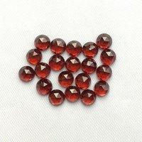 7mm Red Garnet Rose Cut Round Loose Gemstones