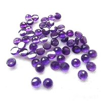 4mm African Amethyst Rose Cut Round Loose Gemstones