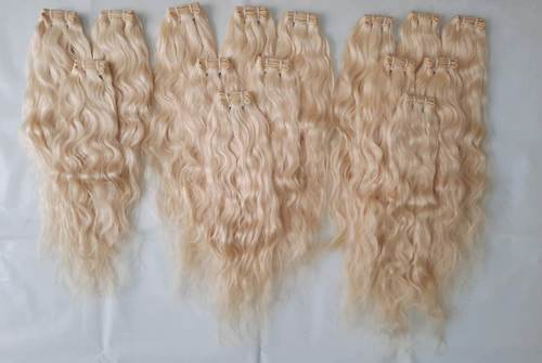 Natural wavy Blonde colour hair Extensions