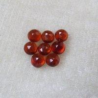 4mm Hessonite Garnet Rose Cut Round Loose Gemstones