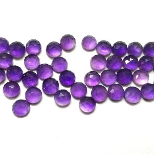 5mm African Amethyst Rose Cut Round Loose Gemstones