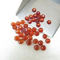 5mm Hessonite Garnet Rose Cut Round Loose Gemstones