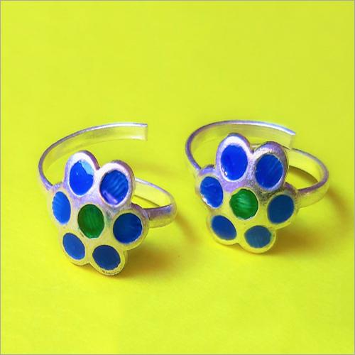 Blue Colour Toe Ring
