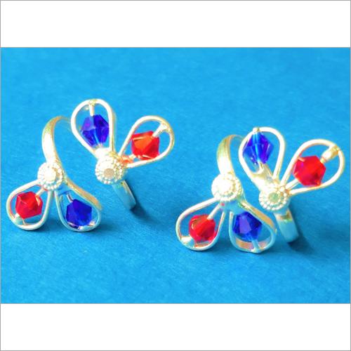 Coloured Designer Toe Rings