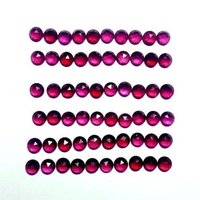 5mm Rhodolite Garnet Rose Cut Round Loose Gemstones