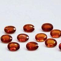 5x7mm Orange Kyanite Faceted Oval Loose Gemstones