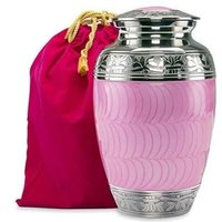 Hug & Kiss light Pink Memorial Metal Cremation Urn