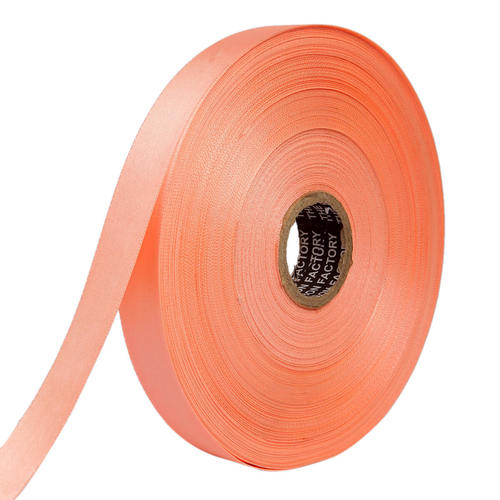 Double Satin NR – Peach Ribbons 25mm/1''inch 20mtr Length