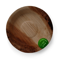 Disposable Areca Palm Leaf Plate - 6 inch Round | 100% Natural, Export Quality, Eco Friendly, Available in bulk