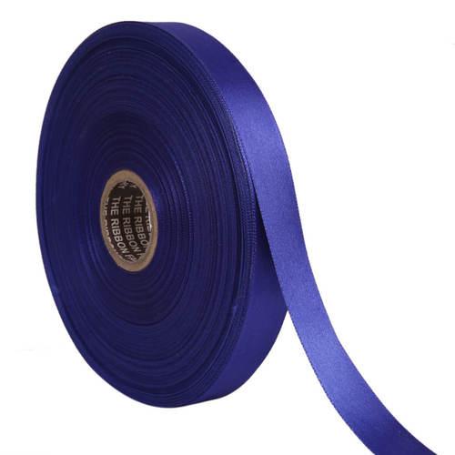 Double Satin NR – Royal Blue Ribbons25mm/1''inch 20mtr Length