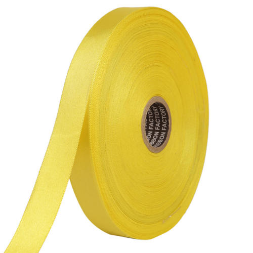 Double Satin NR – Butter Yellow Ribbons25mm/1''inch 20mtr Length