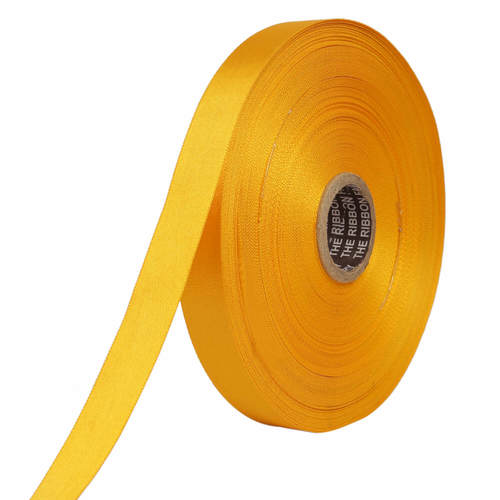 Double Satin NR – Golden Yellow Ribbons25mm/1''inch 20mtr Length
