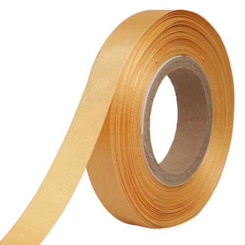 Double Satin NR – Butterscotch Yellow Ribbons25mm/1''inch 20mtr Length