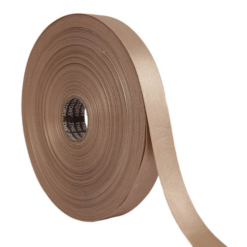 Double Satin NR – Peanut Brown Ribbons25mm/1''inch 20mtr Length