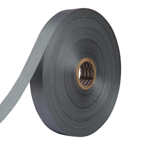 Double Satin NR – Lead Grey Ribbons25mm/1''inch 20mtr Length