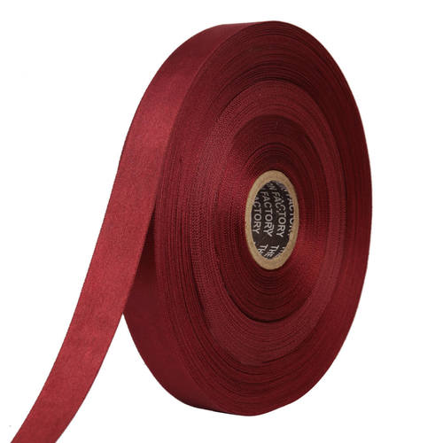 Double Satin NR – Blood Red Ribbons25mm/1''inch 20mtr Length