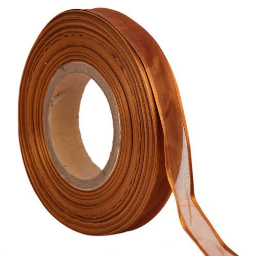 Organza Satin – Caramel Ribbons 25mm/1''inch 20mtr Length