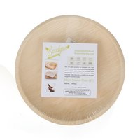 Disposable Areca Palm Leaf Plate - 8 Inch Round | 100% Natural, Export Quality, Eco Friendly, Available In Bulk