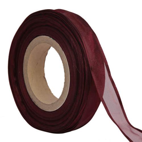 Organza Satin – Red Ribbons 25mm/1''inch 20mtr Length