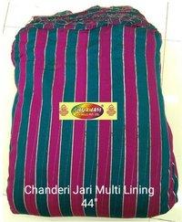 Chanderi Jari Multi Lining