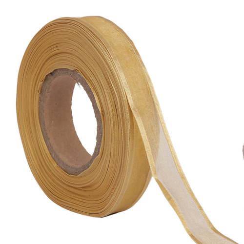 Organza Satin – Mustard Ribbons 25mm/1''inch 20mtr Length