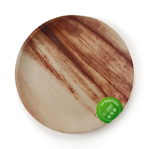 Disposable Areca Palm Leaf Plate - 10 Inch Round | 100% Natural, Export Quality, Eco Friendly, Available In Bulk