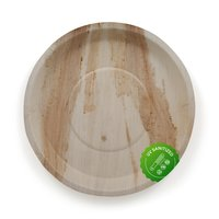 Disposable Areca Palm Leaf Plate - 12 Inch Round | 100% Natural, Export Quality, Eco Friendly, Available In Bulk